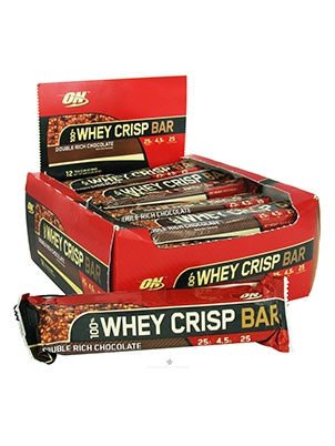 Optimum Nutrition 100% Whey Crisp Bar 12 шт