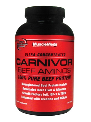 Muscle Meds Carnivor Beef Aminos 300 капсул