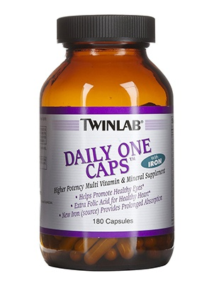 TwinLab Daily One Caps with iron 180 cap 180 капсул