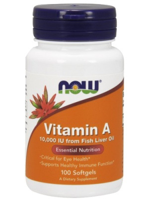 NOW Foods Vitamin A 10000ME 100 cap 100 капс.