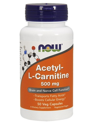 NOW Acetil L-Carnitine 500mg 50 капсул