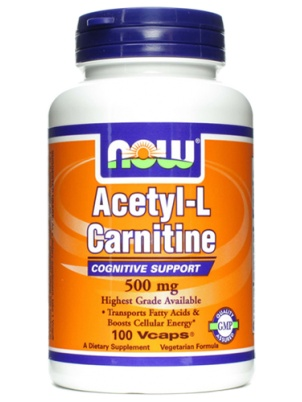 NOW Acetil L-Carnitine 500mg 100 капс.