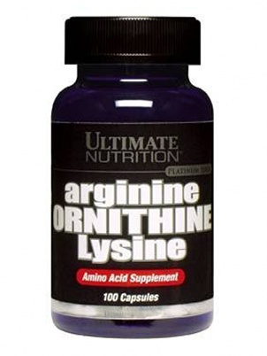 Ultimate Nutrition Arginine/Ornithine/Lysine 100 капсул