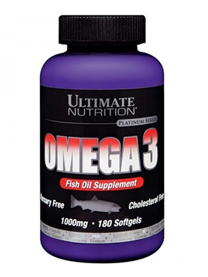 Ultimate Nutrition Omega 3 1000 мг 90 софтгельевых капсул