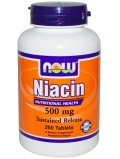 NOW Niacin 500mg Sustained Release