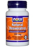 NOW Foods Natural Resveratrol 200mg